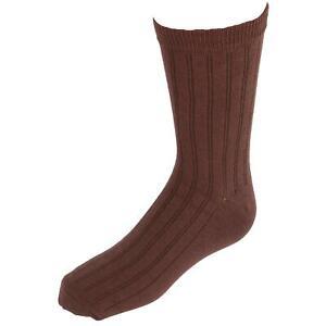 New Jefferies Socks Kids' Cotton Ribbed Uniform Crew Socks