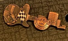 HARD ROCK CAFE INDIANAPOLIS 3D CITY SKYLINE GUITAR PIN INDY CAR CLOSED LOCATION