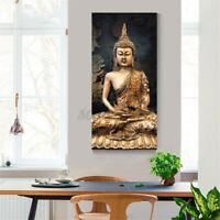 30x60CM Buddha Leinwandbild Wandbilder Kunstdruck Wand Deko Rahmenlos/Rahmen