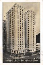 Detroit Michigan~Barlum Hotel~Cadillac Sq~Bath & Shower~Radios! 1951 Lumitone