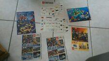 vintage lot de 7 notices catalogue LEGO  annees 80/90