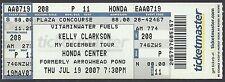 2007 Kelly Clarkson Full Unused Concert Ticket @ Honda Center