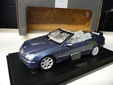 1:18 Kyosho Mercedes CLK 500 Cabriolet A209 blaumetallic Dealer Edition NEU NEW