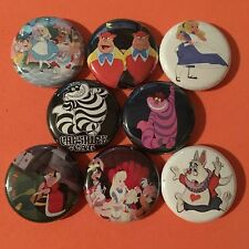 "ALICE IN WONDERLAND 1"" buttons badges MAD HATTER DISNEY"