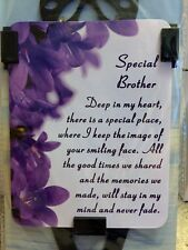 "BNIP "" SPECIAL BROTHER "" Memorial Laminated Card / Butterfly Stake Holder"