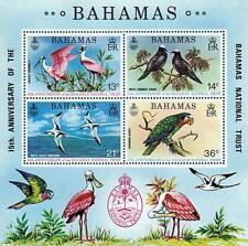 👉 BAHAMAS 1974 Protected BIRDS S/S MNH SC#365a CV$11.00 PARROTS, PIGEONS