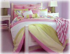 NEW Tommy Hilfiger Florabundance Colorblock Twin Duvet & Sham Set 2PC-Pink Green