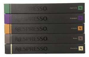 50 ORIGINAL NESPRESSO COFFEE CAPSULES PODS - MIXED INTENSO & ESPRESSO