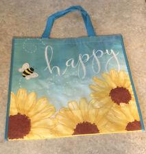 NEW TJ Maxx BEE HAPPY Reusable Shopping Bag Tote Eco Friendly 20x17.5x7 Nice!