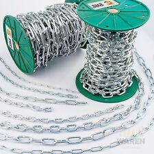 Stahlkette verzinkt Rundstahlkette Eisenkette langgliedrig Schwei�Ÿkette Kette