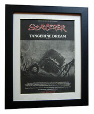 TANGERINE DREAM+Sorcerer+POSTER+AD+RARE ORIGINAL 1977+FRAMED+EXPRESS GLOBAL SHIP
