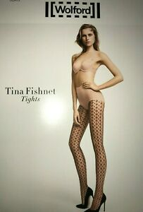 Wolford Tina Fishnet Tights Size: Small  Color: White 19218 - 06