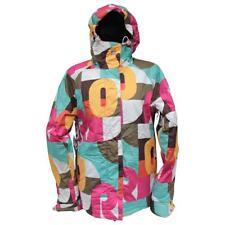 Roxy Print Womens Snow Jacket Size M Medium Pink Warm Snow Snowboarding Ski Coat