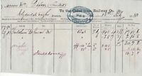 The Caledonian Railway Co. 1880 to Messrs Wm Dixon Ltd Cancelled Invoice Rf44809