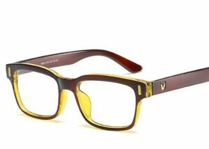 Vintage Square Glasses Frame Men Women Eyeglasses Clear Lens Optical Multicolor