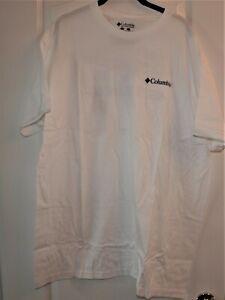 Columbia Sportswear Men's White T-Shirt Size XXL Back Logo