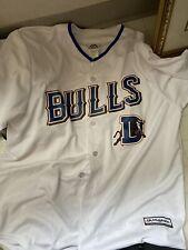 Durham Bulls Majestic Coolbase  Minor League Baseball Jersey Braves)Large