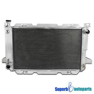 For 85-96 Ford F150 F250 Bronco Super Duty 3-Row Core Aluminum Cooling Radiator