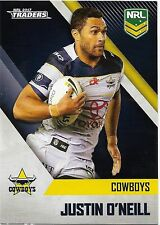 2017 NRL Traders Base Card (087) Justin O'NEILL Cowboys