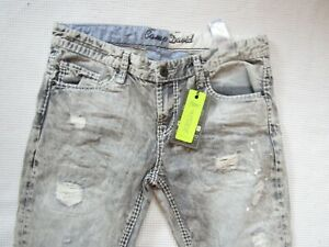 100% Camp David Herren Jeans;Pant Cape Town Dockalde CC Grey Denim used,W34 (L34