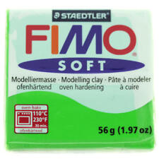 FIMO Soft Polymer Modelling Clay no 53 - Tropical Green - Two 56g blocks