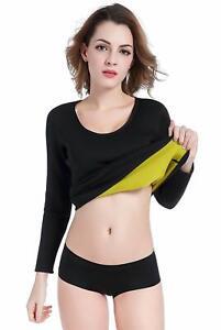 1x Women Sweat Body Shaper Long Shirt Hot Thermo Slimming Sauna Suit Fat Burner