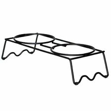 New listing Pets Bowl Stand Medium Food Water Bowls Rack Riser Metal Indoor Outdoor Dog New