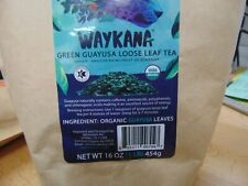 WAYKANA Guayusa Loose Leaf Tea, 1 Pound (16oz) | Balanced & Healthy Energy