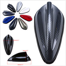 Car Shark Fin Antenna Radio Signal Aerial ABS Plastic&Rubber Decor-Carbon Fiber