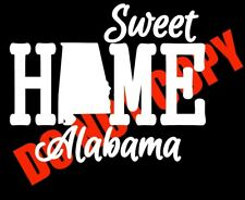 SWEET HOME ALABAMA Car Window Decal Sticker Car Truck Laptop Cute Smile Fun