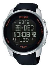 PNP PQ2049X1 Pulsar Gents Digital Chronograph Rubber Strap Watch