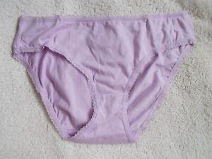 Secret Treasures Cotton Blend Bikini Panties Purple size XXXL/10 (ST-3)