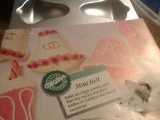 1989 Wilton Mini Bell Cake Pan Mold 2105-8254 Wedding Showers Holiday 6 count #4