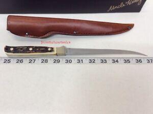 "Uncle Henry Filet Knife 12"" Staglon Handle Steelhead Fillet Knife 12"" NEW"