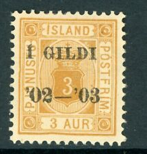 Iceland 1902 Official 3a Scott #O20 Mint N984