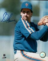 Sid Fernandez Signed 8X10 Photo Autograph New York Mets Over Shoulder Blue w/COA