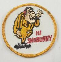 "Vintage Hi Snobunny 1960/70's 3"" Hat Jacket Patch Winter Snowmobile Skiing Humor"