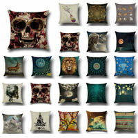 "Animal18"" Cotton Linen Pillow Case Sofa Car Waist Cushion Cover Home Decor"