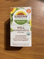 Sundown Organics Well Womens Multi vitamin multivitamin 30 Tablets New 04/21+