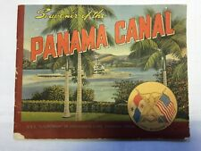 Souvenir of The Panama Canal Brochure--1940's Ships--Panama City & Map