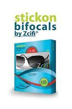 Stick on Bifocals by Zcifi Lenses +2.50 - FREE Case - Instant Bifocals