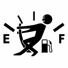 1pc Funny Car Vinyl Sticker High Gas Consumption Decal Fuel Gage Empty Black RR