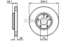 1x BOSCH Disco de freno delantero Ventilado 305mm 0 986 479 B69