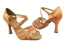 Women's Salsa Ballroom Dance Shoes Satin Heels 2 5 And 3 Inch Very Fine Sera1605