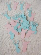 """Gender Reveal Over sized  Table Confetti  100 pieces """"Buck and Doe Design"""""""