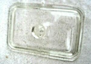 Old glass icebox refrigerator dish rectangular cover lid
