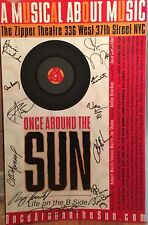 ONCE AROUND THE SUN  Cast Signed Off Broadway Poster Windowcard