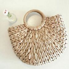Summer Beach Bag Straw Handbag Rattan Travel Women Round Vintage Handmade Tote