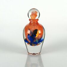 Jean Claude Novaro HAND BLOWN Glass Sculpture Vase Perfume Bottle - Hand Signed!