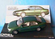 OPEL OMEGA B MV6 GREEN METAL 1994 1999 IXO 1/43 VERT METALLISE LEFT HAND DRIVE